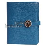 Кошелёк Hermes женский синий натуральная кожа 19x10см/8065