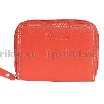 Визитница кожаная Prensiti натуральная кожа цвет красный 8x10см/54633