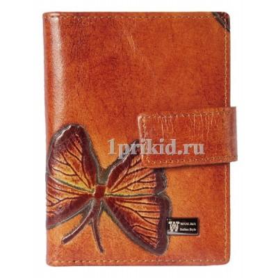 Визитница Wanlima натуральная кожа цвет коричневый 8x10см/1299