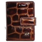 Визитница WANLIMA натуральная кожа цвет коричневый 8x10см/17834