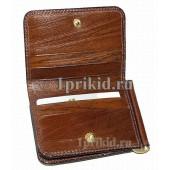 Зажим Cosset натуральная кожа цвет коричневый 11x8см/1495