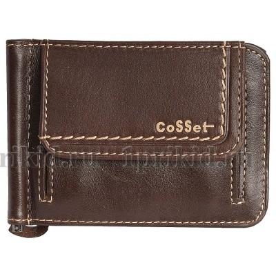 Зажим для денег натуральная кожа цвет коричневый 11x8см/90762