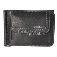 Зажим для денег Cosset натуральная кожа цвет чёрный 11x8см/8017