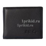 Зажим для денег ROCK FELD натуральная кожа цвет чёрный 10x8см/34201