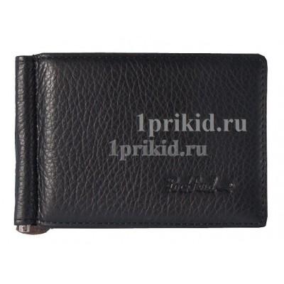 Зажим для денег ROCK FELD натуральная кожа цвет чёрный 11x7см/6560