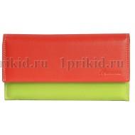 Женский кошелек женский красный натуральная кожа 19x10см/38876