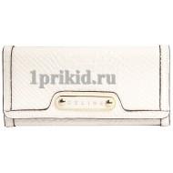 Женский кошелёк CELINE женский белый натуральная кожа 19x9см/5423