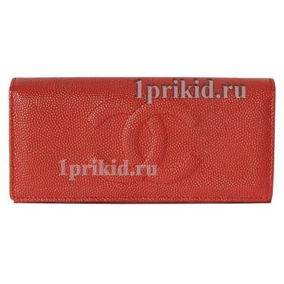 Женский кошелёк CHANEL женский красный натуральная кожа 19x9см/5344