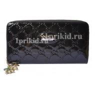 Женский кошелёк GUCCI женский чёрный натуральная кожа 20x10см/8405
