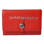 Женский кошелёк Hermes Red женский красный натуральная кожа 11x15см/03317