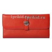 Женский кошелёк Hermes Red женский красный натуральная кожа 19x9см/05111