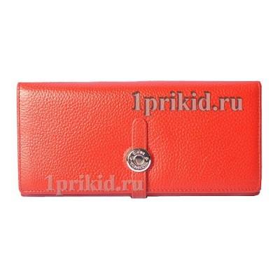 Женский кошелёк Hermes женский красный натуральная кожа 19x9см/05129