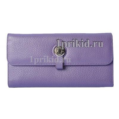 Женский кошелёк Hermes женский фиолетовый натуральная кожа 19x10см/0519