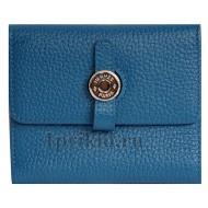 Женский кошелёк Hermes женский синий натуральная кожа 10x11см/6790