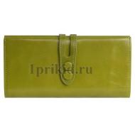 Женский кошелёк NINA BELLINI женский салатовый натуральная кожа 19x9см/4114