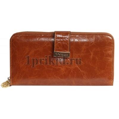 Женское портмоне Velina Fabbiano женский коричневый натуральная кожа 20x10см/7849
