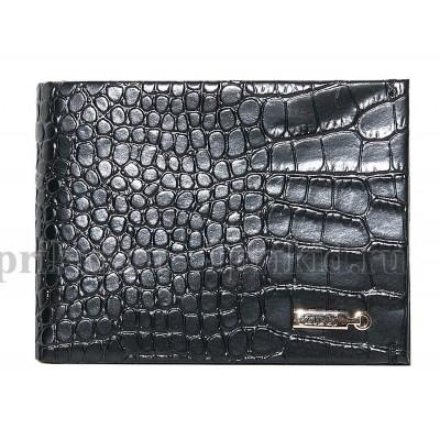 ZILLI (Зилли) зажим для денег натуральная кожа цвет чёрный 11x8см/65790