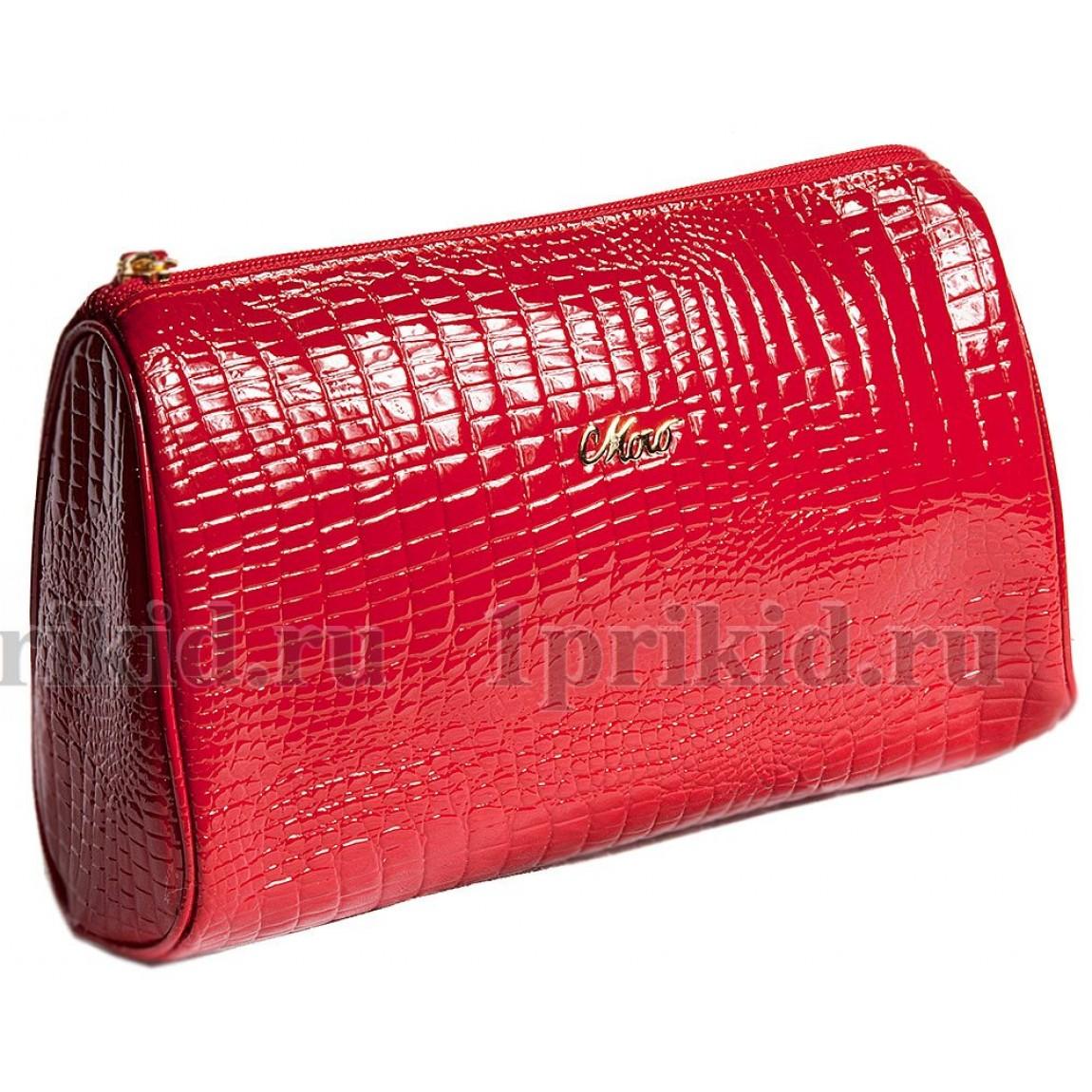 Косметичка лаковая красная MORO 10302